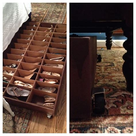 Under Bed Shoe Rack Diy