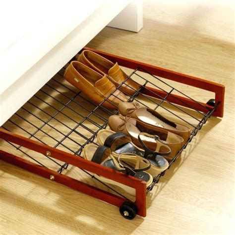Under Bed Shoe Rack With Wheels