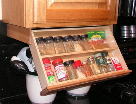 Under Cabinet Spice Rack Diy Roll