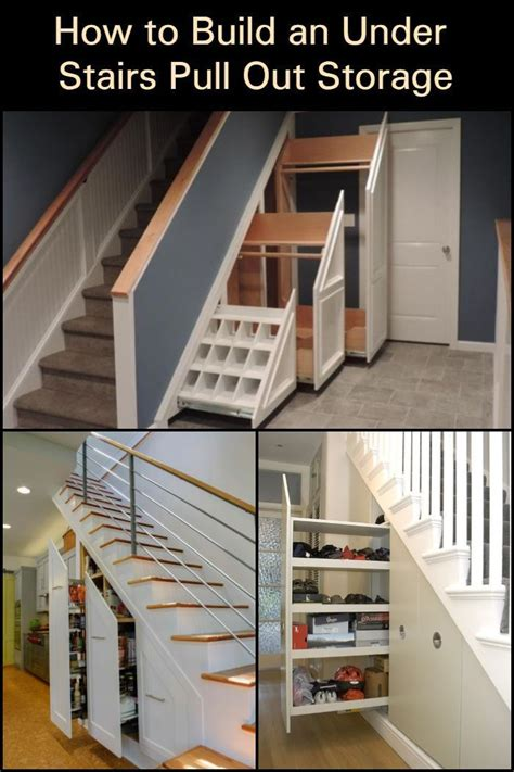 Under Stairs Pull Out Storage Diy Projects