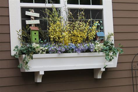 Under Window Flower Box Plans