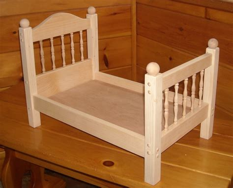 Unfinished 18 Inch Doll Beds