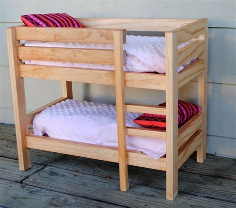 Unfinished 18 Inch Doll Bunk Beds