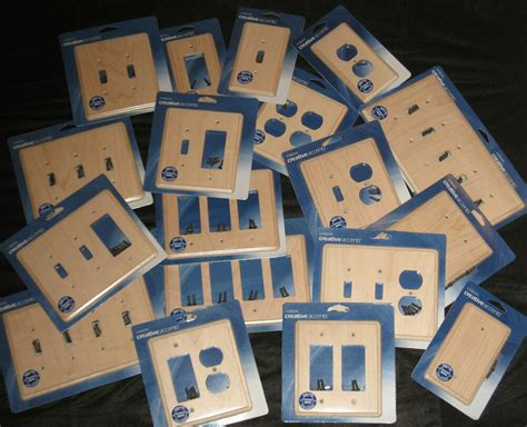 Unfinished colonial maple single toggle wood switch plate Image