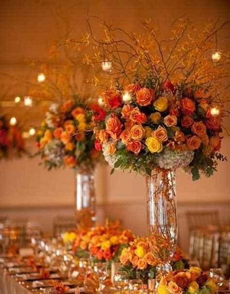 Unique Table Decoration For Fall Weddings