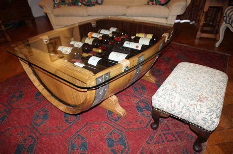 Unique coffee table bases for wine holders Image