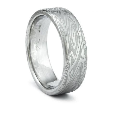 Unique Ring Options: Wood Grain Mens Wedding Rings