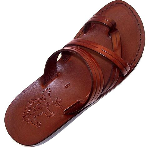 Unisex Adults/Children Genuine Leather Biblical Sandals / Flip flops (Jesus - Yashua) Samaria Style I - Holy Land...
