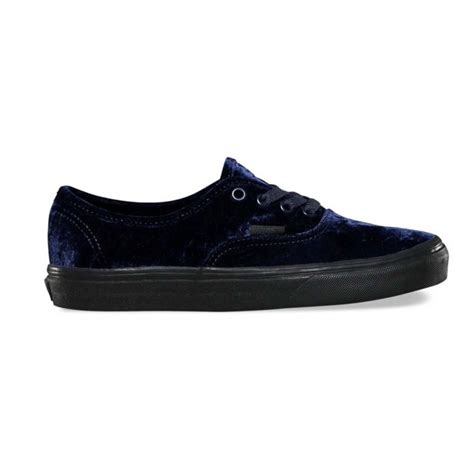 Unisex Authentic Velvet Skate Shoes-Velvet Navy