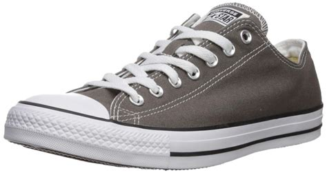 Unisex Chuck Taylor All Star Low Top Charcoal Sneakers - 12 Men 14 Women