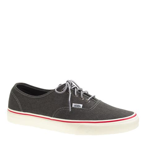 Unisex Vans For J Crew Washed Canvas Authentic Sneakers