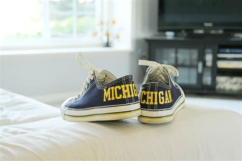 University Of Michigan Converse Sneakers