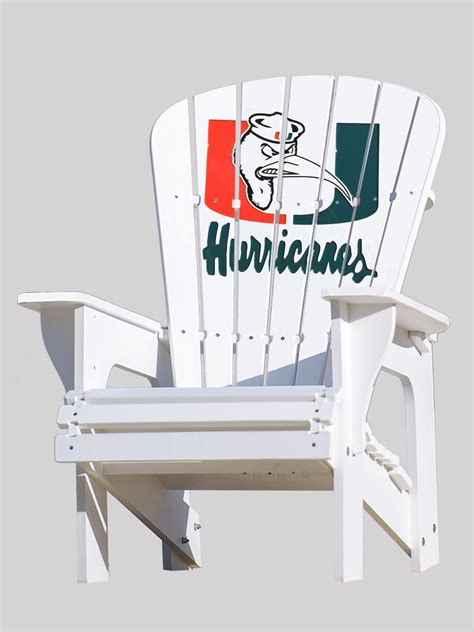 University-Of-Miami-Adirondack-Chair