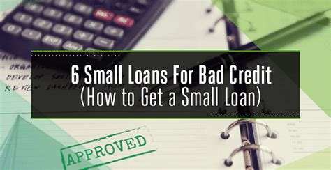 Unsecured Bad Credit Small Loans