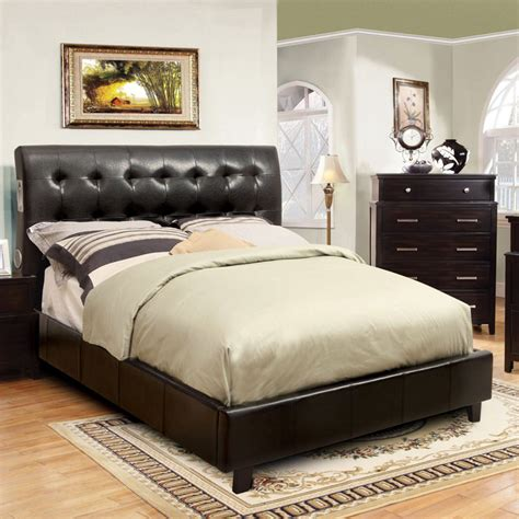 Upholstered Platform Bed With Speakers