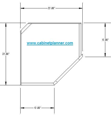 Upper Corner Cabinet Measurements
