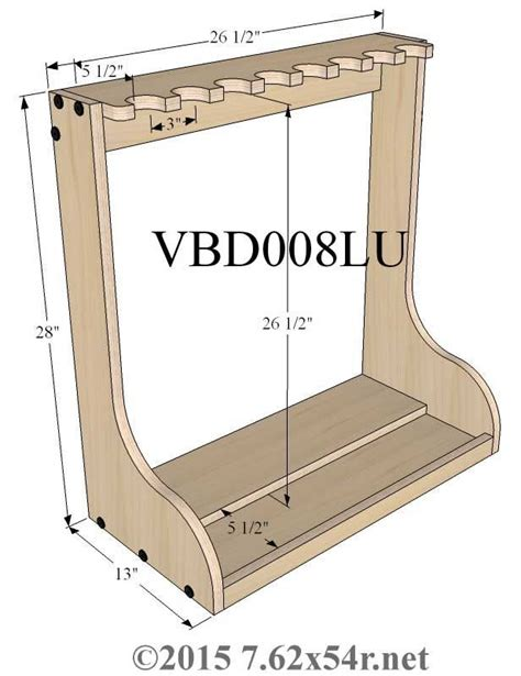 Upright Gun Rack Building Plans