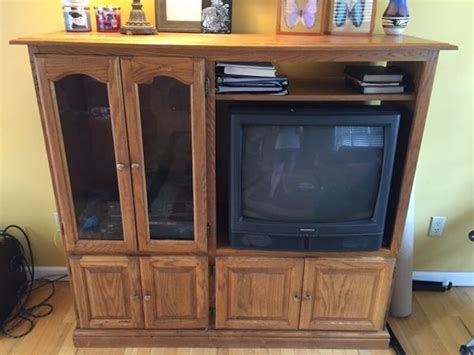 Used Solid Wood Entertainment Center