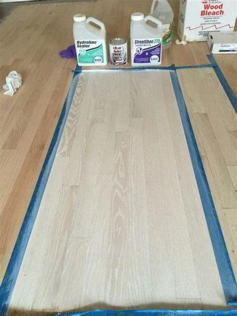 Using Wood Bleach On Hardwood Floors
