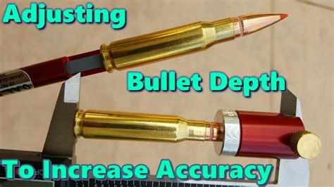 Using The Hornady Comparator And Oal Gauge To Adjust Bullet Depth.