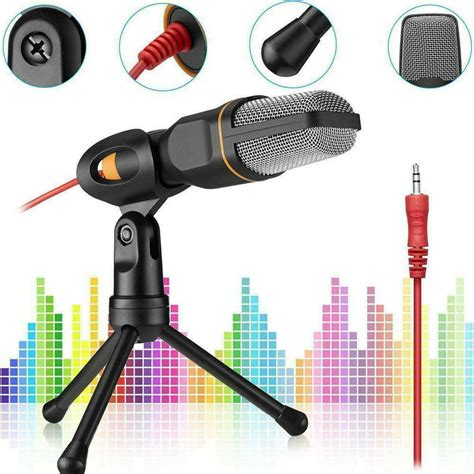 Utheing Professional Condenser Microphone with Tripod Stand for PC Laptop Computers Sound Studio Podcast Recording