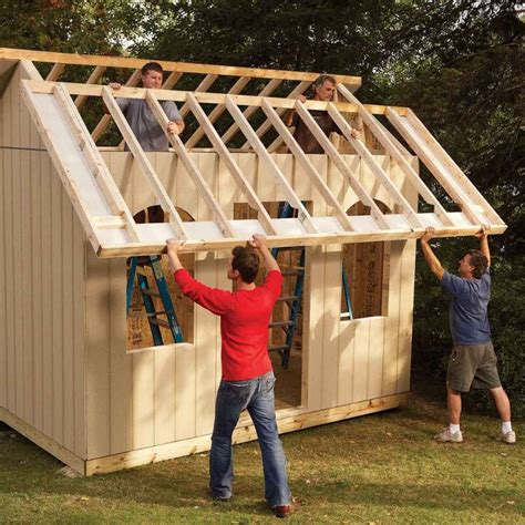 Utility Shed Plans 14x20 Ridge Beam