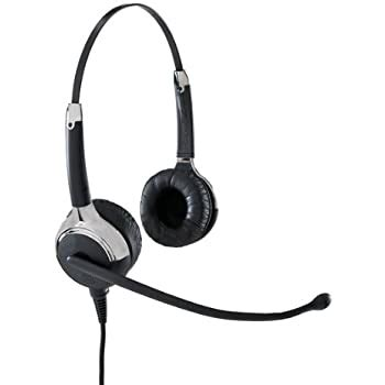 VXi 203035 UC ProSet 21P DC Over-the-Head Binaural Headset with DC N/C Microphone