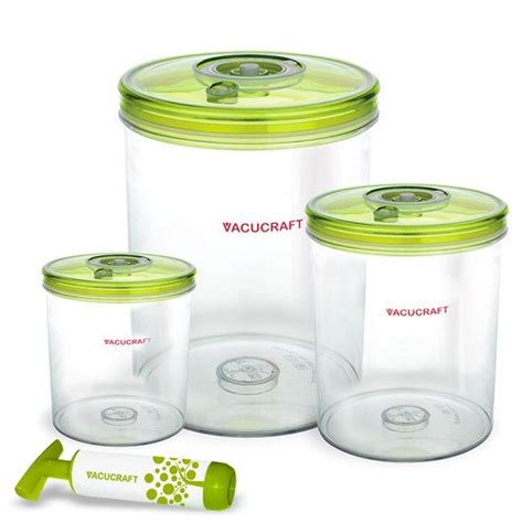 Vacuum Cylinder 3 Container Food Storage Set