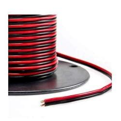 Valley Enterprises Red/Black Bonded Zip Cord Easy ID Low Voltage DC Power Cable (Gauge: 16, Length: 50 feet)