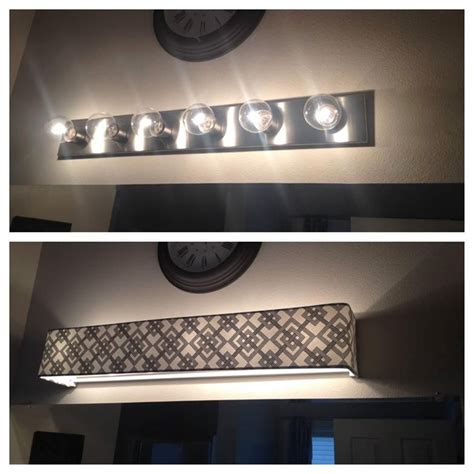 Vanity Light Covers Diy