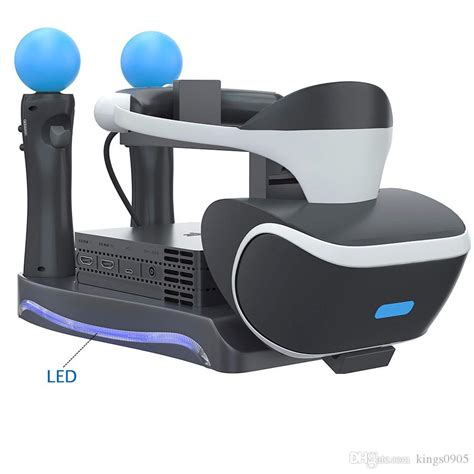 Vanpower 4 in 1 Stand with Charger Charging Dock Station for PS4 Game Controller/PS VR Headset