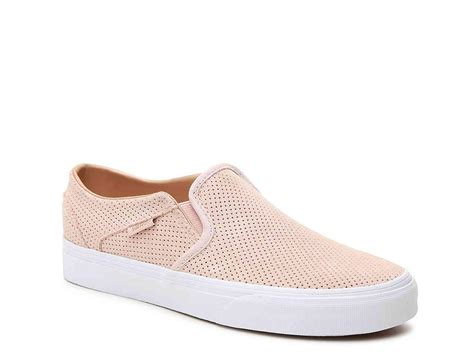 Vans Asher Perforated Slip On Sneaker Blush