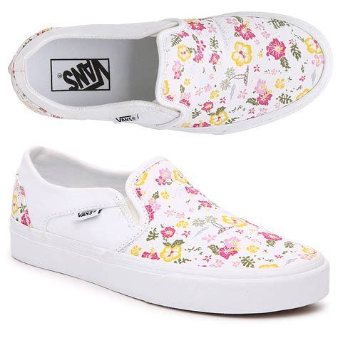 Vans Asher Printed Slip On Sneaker Womens