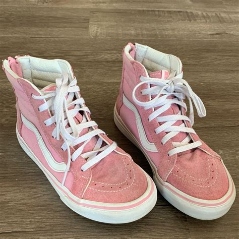 Vans Black And Pink Hadley High Top Sneakers