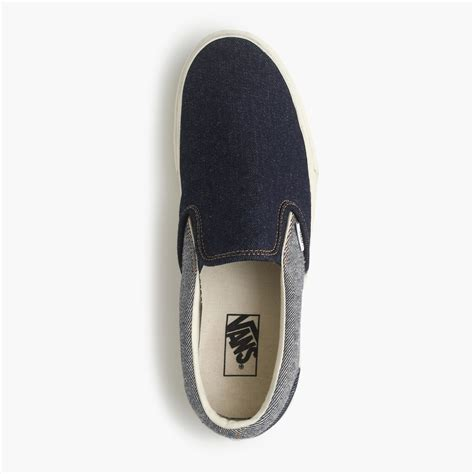 Vans Classic Slip On Sneakers In Two Tone Denim