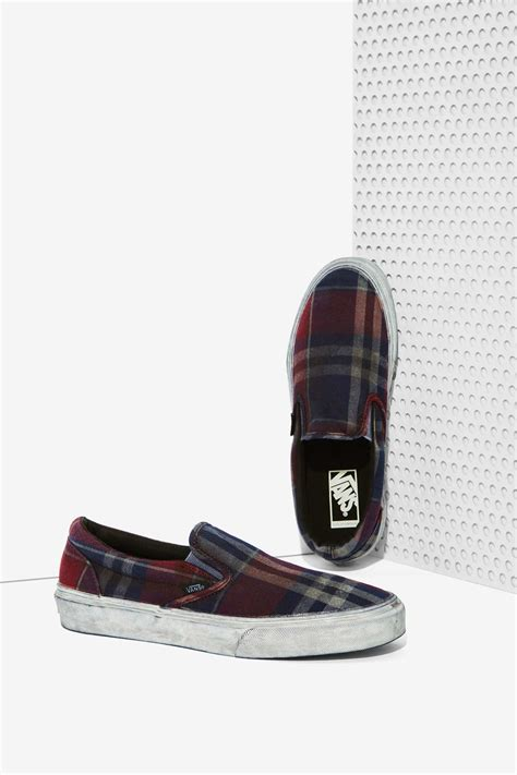 Vans Classic Slip-on Sneaker Overwashed Plaid