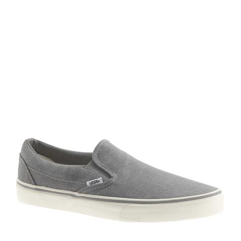 Vans For J Crew Washed Canvas Classic Slip On Sneakers