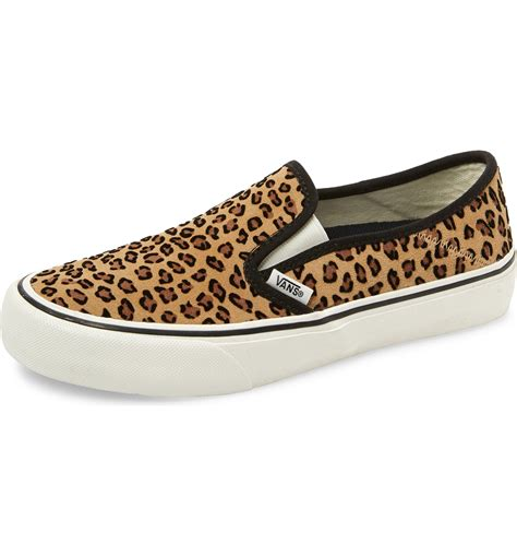 Vans Leopard Slip On Sneakers