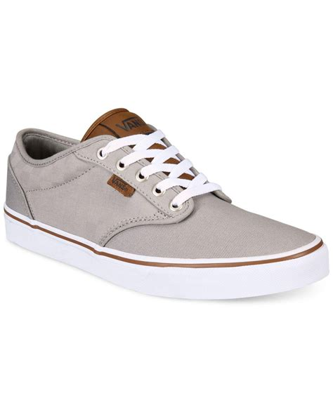 Vans Mens Gray Atwood Check Canvas Sneakers