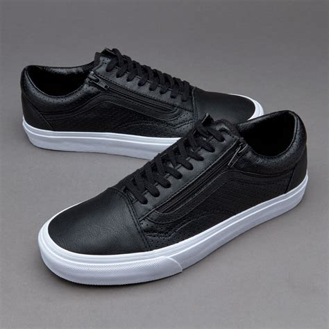 Vans Mens Perf Leather Old Skool Zip Sneaker