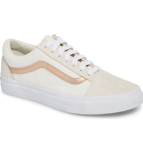 Vans Old Skool Sneaker Blanc De Blanc Rose Gold