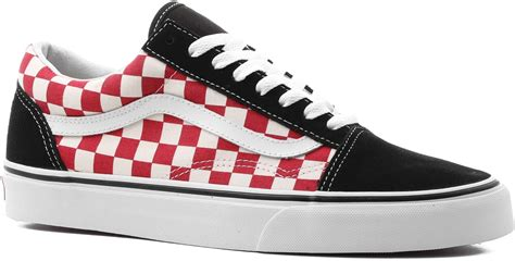Vans Old Skool Sneakers In Black And Red Checkerboard