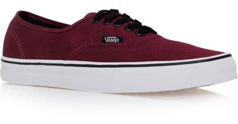 Vans Shoes Burgundy Authentic Womens Mens Classic Canvas Sneakers