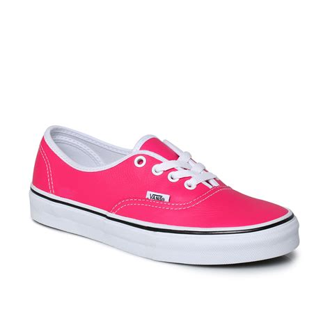 Vans Sneakers In Pink Leather Outfits