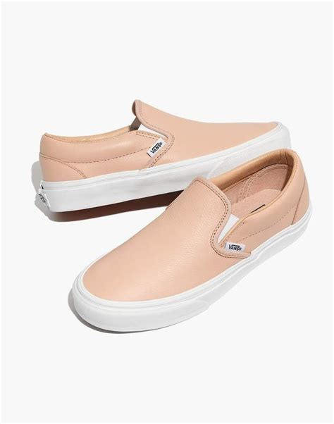 Vans Unisex Classic Slip On Sneakers In Frappe Leather