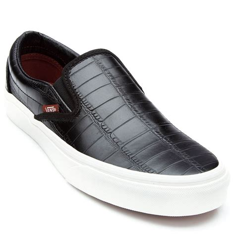 Vans Unisex Classic Slip On Sneakers In Mint Leather