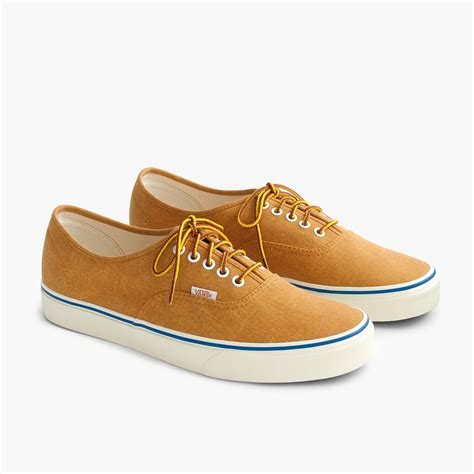 Vans X J Crew Washed Canvas Authentic Sneakers