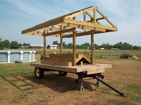 Vegetable Stand On Trailer DIY