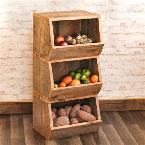 Vegetable Wood Storage Bin