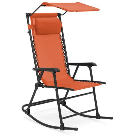 Vent Mesh Folding Outdoor Rocking Chair